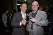 Composer Mychael Danna and Steve Pond, Awards Editor for TheWrap attend TheWrap 4th Annual Pre-Oscar Party at Four Seasons Hotel Los Angeles at Beverly Hills on February 20, 2013 in Beverly Hills, California.