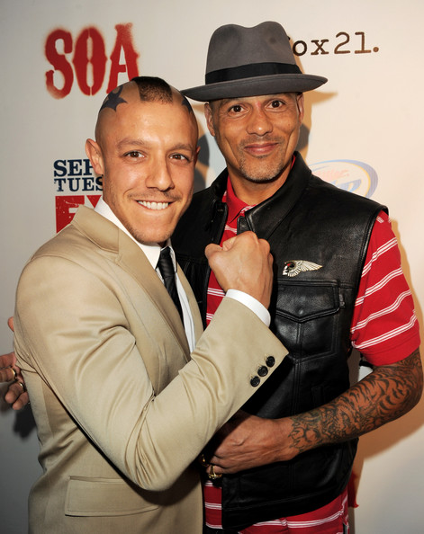 "Screening Of FX's ""Sons Of Anarchy"" - Red Carpet [sons of anarchy,hat,fashion accessory,event,cowboy hat,fedora,theo rossi,david labrava,fx,cinerama dome theater,los angeles,red carpet,l,screening,screening]"