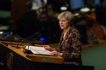 Theresa May World Leaders Address Annual United Nations General Assembly