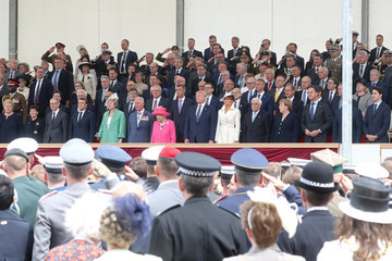 Theresa May Philip May British D-Day Commemoration In Portsmouth
