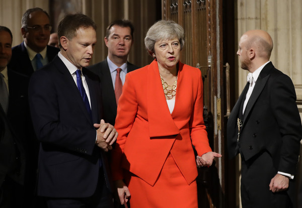 State Opening Of Parliament [laws,red,suit,event,fashion,formal wear,tuxedo,official,businessperson,theresa may,queen,citizens,plans,england,london,commons members lobby,state opening of parliament,speech]