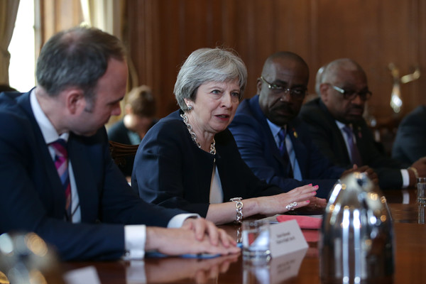 Theresa May Meets Representatives Of Caribbean Countries To Discuss UK's Treatment Of The Windrush Generation