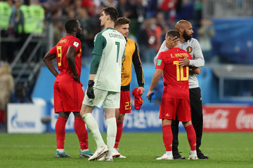 Thibaut Courtois Belgium vs. France: Semi Final - 2018 FIFA World Cup Russia