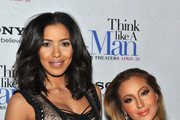 "Julissa Bermudez and Adrienne Bailon attend the ""Think Like a Man"" screening at the AMC Empire 25 theater on April 4, 2012 in New York City."