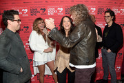 (L-R) Greg Williamson, Grace Potter, President & CEO of God's Love We Deliver Karen Pearl, and Robert Plant attend the Third Annual Love Rocks NYC Benefit Concert for God's Love We Deliver on March 07, 2019 in New York City.