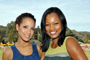 Actors Dania Ramirez and Garcelle Beauvais attend the Third Annual Veuve Clicquot Polo Classic at Will Rogers State Historic Park on October 6, 2012 in Pacific Palisades, California.