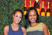 (L-R) Actors Dania Ramirez and Garcelle Beauvais arrive at the Third Annual Veuve Clicquot Polo Classic at Will Rogers State Historic Park on October 6, 2012 in Pacific Palisades, California.