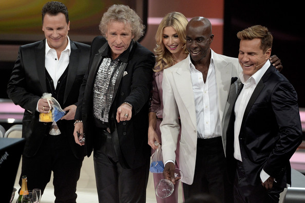 '30 Jahre RTL' Anniversary Show in Germany [anniversary show,show,event,suit,white-collar worker,thomas gottschalk,guido maria kretschmer,december 19,taping,l-r,germany,rtl,jubilaeumsshow]