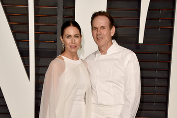 Thomas Keller Laura Cunningham Arrivals at the Elton John AIDS Foundation Oscars Viewing Party — Part 5