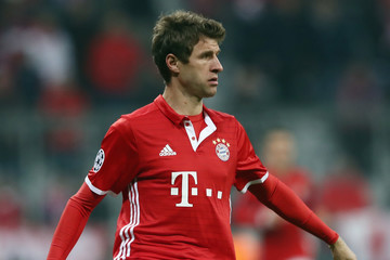 Thomas Mueller FC Bayern Muenchen v Arsenal FC - UEFA Champions League Round of 16: First Leg