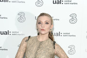 Natalie Dormer attends the Three Fashion Fuelled by 5G After Party following the Central St Martins MA Show  during London Fashion Week at Central St Martins on February 15, 2019 in London, England.