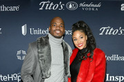 Adrian Peterson (L) and Ashley Peterson attend The Thuzio Party During Super Bowl Weekend at SweetWater Brewery on February 1, 2019 in Atlanta, Georgia.
