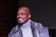 Adrian Peterson speaks onstage at The Thuzio Party During Super Bowl Weekend at SweetWater Brewery on February 1, 2019 in Atlanta, Georgia.