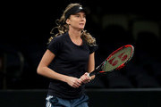 Daniela Hantuchova of Slovakia practices during the Tie Break Tens at Madison Square Garden on March 5, 2018 in New York City.