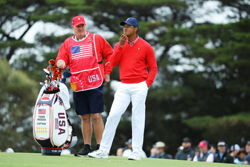 Tiger Woods Joe Lacava 2019 Presidents Cup - Day 1