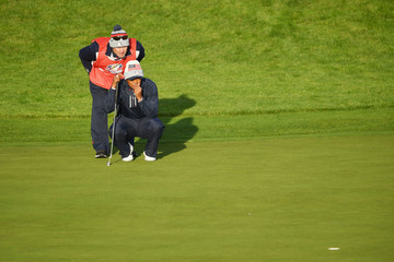 Tiger Woods Joe Lacava 2018 Ryder Cup - Morning Fourball Matches