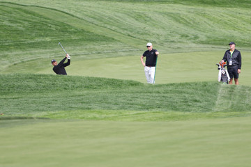 Tiger Woods Joe Lacava U.S. Open - Preview Day 2