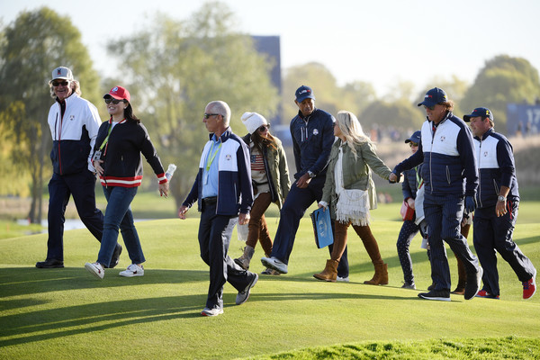 2018 Ryder Cup - Afternoon Foursome Matches [golf,recreation,sport venue,competition event,sports,championship,player,sports training,team,walking,member,tiger woods,phil mickelson,united states,fairway,le golf national,team,foursome matches,ryder cup,afternoon foursome matches]