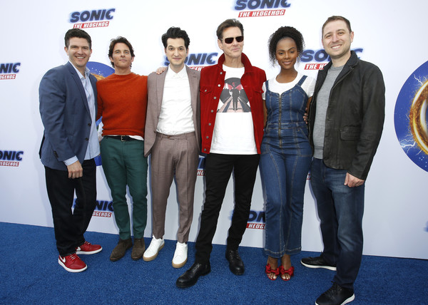 """""""Sonic The Hedgehog"""" Family Day Event [sonic the hedgehog,event,premiere,carpet,leisure,team,jeff fowler,jim carrey,tika sumpter,ben schwartz,james marsden,toby ascher,l-r,event,family day event,james marsden,ben schwartz,jeff fowler,sonic the hedgehog,jim carrey,tika sumpter,neal mcdonough,paramount pictures,united states]"""