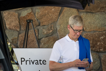 Tim Cook Annual Allen And Co. Meeting In Sun Valley Draws CEO's And Business Leaders To The Mountain Resort Town