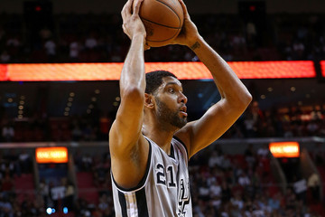 Tim Duncan San Antonio Spurs v Miami Heat