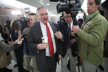Tim Kaine Senate Continues Debate As Government Shutdown Enters Third Day