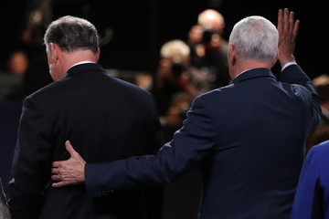 Tim Kaine Candidates Tim Kaine and Mike Pence Hold the Vice Presidential Debate