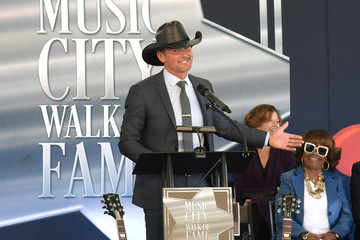 Tim McGraw 2019 Music City Walk Of Fame Induction Ceremony