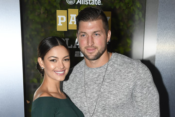 Tim Tebow Demi-Leigh Nel-Peters Party At The Playoff