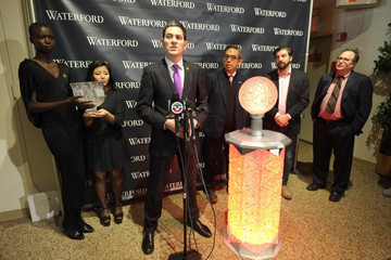 Tim Tompkins Times Square Prepares For 2015 - The Waterford Crystal Installation