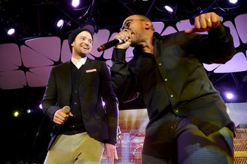 Timbaland Justin Timberlake Launch Event For mPowering Action Mobile Platform