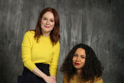 "Julianne Moore and Jurnee Smollett-Bell pose for a portrait at ""Time's Up"" during the 2018 Tribeca Film Festival at Spring Studios on April 28, 2018 in New York City."