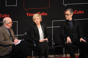 "(L-R) David Rooney, Michelle Williams and Alan Cumming attend TimesTalk Presents An Evening With ""Cabaret"" at The Times Center on February 24, 2014 in New York City."