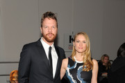 Leven Rambin and Jim Parrack attend the Timo Weiland Women's fashion show at Pier 59 Studios on February 12, 2015 in New York City.