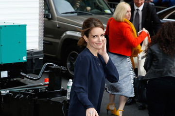 Tina Fey Celebrities Visit 'The Late Show With David Letterman'