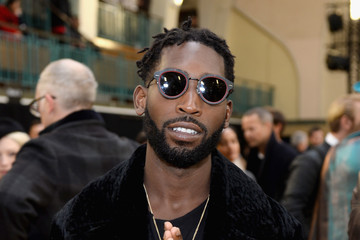 Tinie Tempah Celebrities & Front Row - Day 4 - LFW Men's January 2017
