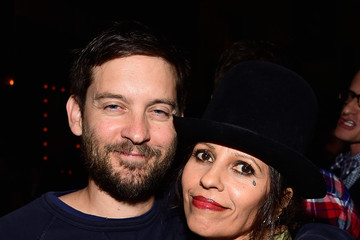 Tobey Maguire Linda Perry Celebration for the Song 'Hands of Love' from the Film 'Freeheld'