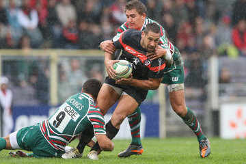 Toby Flood Ben Youngs Toulouse v Leicester Tigers - Heineken Cup