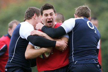 Toby Flood Ben Youngs England Training Session