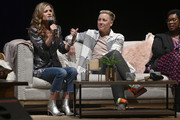 Glennon Doyle, Abby Wambach and Ashley C. Ford speak on stage at Together Live at Taft Theatre on October 23, 2019 in Cincinnati, Ohio.