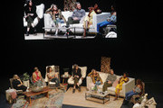 (L-R) Milck, Cameron Esposito, Jennifer Rudolph Walsh, Nadia Bolz-Weber, Glennon Doyle, Abby Wambach, Amena Brown, and Nkosi Mabaso speak on stage at Together Live Houston at Lillie & Roy Cullen Theatre on October 17, 2019 in Houston, Texas.