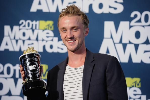 tom felton and emma watson mtv movie awards 2011. tom felton 2011 mtv awards.