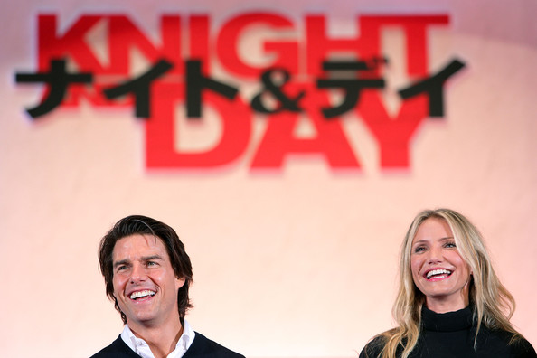 Tom Cruise Actor Tom Cruise (L) and actress Cameron Diaz attend the Japan Premiere of 'Knight and Day' at Roppongi Hills on September 28, 2010 in Tokyo, Japan. The film will open on October 9 in Japan.