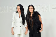 (L-R) Rumer Willis and Demi Moore attend the Tom Ford AW20 Show at Milk Studios on February 07, 2020 in Hollywood, California.