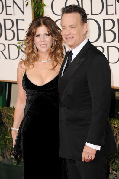 Tom Hanks Actress Rita Wilson (L) and actor/producer Tom Hanks arrive at the 68th Annual Golden Globe Awards held at The Beverly Hilton hotel on January 16, 2011 in Beverly Hills, California.