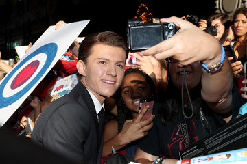 Tom Holland Audi Arrives at the World Premiere of 'Spider-Man: Homecoming'