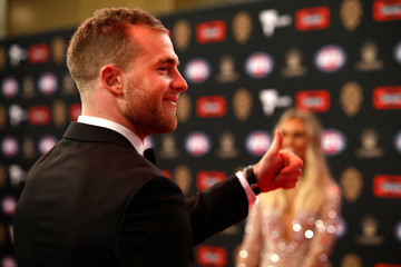 Tom Mitchell Hannah Jeter 2018 Brownlow Medal - Arrivals