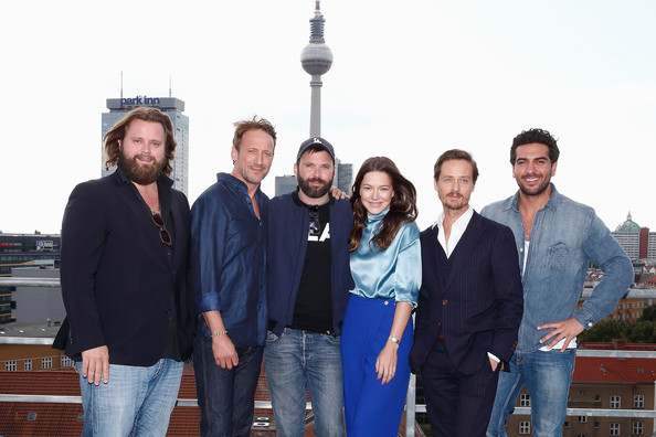 'Who Am I' Photo Call in Berlin [social group,people,team,community,event,tourism,architecture,jeans,denim,family,l-r,berlin,baran bo odar,actors,antoine monot jr.,who am i- kein system ist sicher,hannah herzsprung,wotan wilke moehring,tom schilling,elyas mbarek]