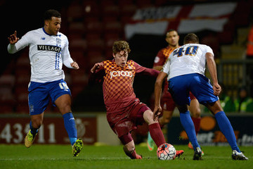 Tom Soares Bradford City v Bury - The Emirates FA Cup Third Round Replay