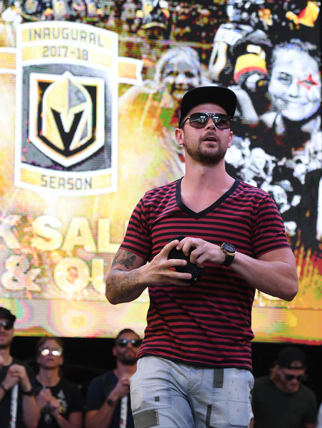 Vegas Golden Knights Host Stick Salute To Vegas And Our Fans Event [stick salute to vegas and our fans,people,product,crowd,event,performance,public event,fan,audience,festival,performing arts,t-shirts,host,crowd,tomas tatar,stick salute to vegas,golden knights,team,event,season]